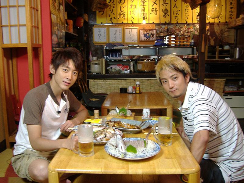 撮影にともない小泉孝太郎さん、上地雄輔さんが 来店しました。